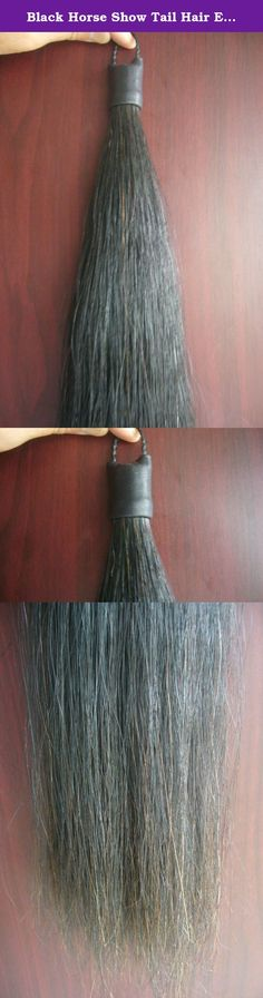 Black Horse Show Tail Hair Extension 70-76cm 170grams. Weight per bundle : 170g Length : 70-76cm (Top has waterproof rubber coating for protection, and come with a horse hair braided loop top for secure ) 100% real UNDYED & UNBLEACHED horse tail hair and full hand made . No damage to natural tail when attached . Our tails are legal in most registered horse shows including AQHA, APHA,PTHA, NSBA, PHBA, and any association that allows hair tail extensions. Our horse hair tails will last for...