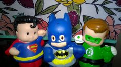 Little People DC Super Hero Friends Superman, Batman & Green Lantern Play Set #FisherPrice