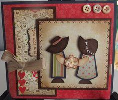 fussy cut girl & boy. Stampin Up paper.