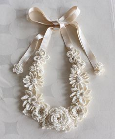 Cream White Crochet