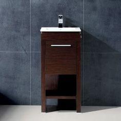 Vigo 16-inch Aristo Single Bathroom Vanity - Wenge Deals Learn : image