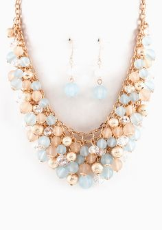 Aspen Blue Bea Cluster Necklace