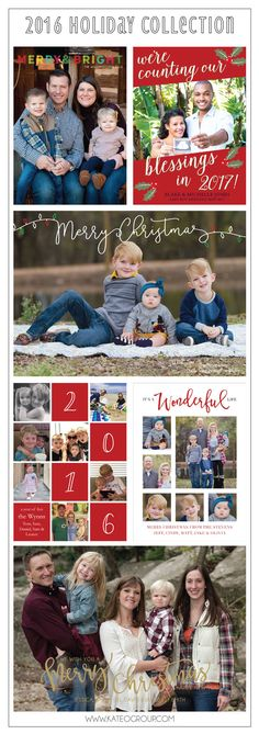 2016 Holiday Collection of Holiday Photo Cards by KateOGroup #HolidayCards #HolidayPhotoCards #ChristmasCards  www.KateOGroup.com