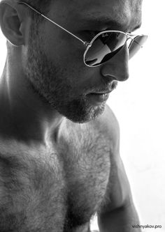 Ray Bans    This guy! I am in love! Oh the hairy chest!