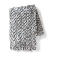 Grandin Road Popcorn Stripe Knit Throw ($39) ❤ liked on Polyvore featuring home, bed & bath, bedding and blankets
