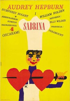 """Sabrina,"" the 1954 film by director Billy Wilder, poster version from Poland."