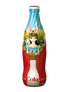 Illustrations for Coca Cola's easter campaign, limited edition bottles and posters, Australia 2007