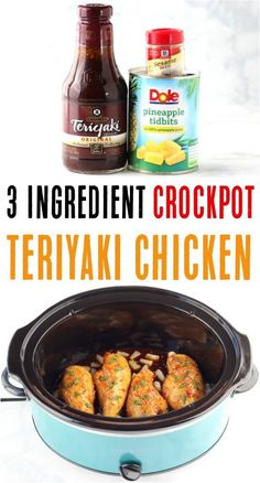 Crock Pot Recipes, Best Crockpot Recipes Ever, Cooker Recipes, Easy Recipes, Popular Recipes, Chicken Teriyaki Rezept, Easy Teriyaki Chicken, Easy Crockpot Chicken, Teriyaki Pineapple Chicken