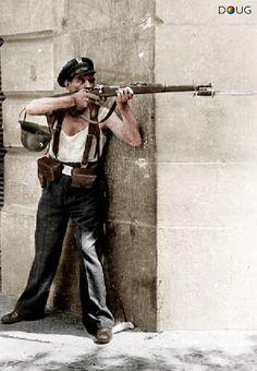 Carrer de la Diputació y Carrer Roger de Llúria, Barcelona - July 1936  (Agusti Centelles)