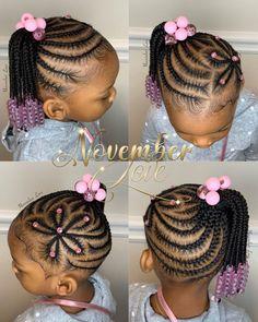 Braids for Kids- 50 Kids Braids with Beads Hairstyles Toddler Braids, Lil Girl Hairstyles, Black Girl Braided Hairstyles, Black Kids Hairstyles, Natural Hairstyles For Kids, Hairstyles For Children, Toddler Hairstyles, Kids Braids With Beads, Braids For Kids