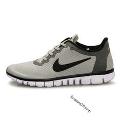 Nike Free 3.0 V2 Mens Shoes Light Grey Black $55.90