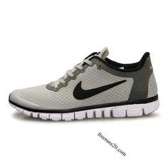 Nike Free 3.0 V2 Mens Shoes Light Grey Black $55.90