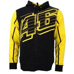 Valentino Rossi VR46 Logo 46 Moto GP Hoodie Black Official 2016 Camiseta  Valentino 636dc2a5522