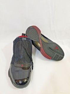 92cc5ff3b84 Nike Air Jordan 19 XIX Retro Bred 2004 Black Chrome Varsity Red Mens 9.5  velcro
