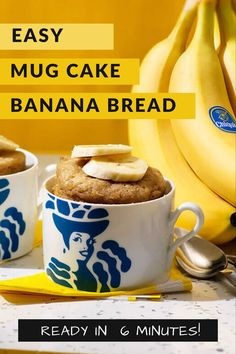 With 2 ripe bananas and a microwave you can have an easy dessert ready in 6 minutes! With 2 ripe bananas and a microwave you can have an easy dessert ready in 6 minutes! Ripe Banana Recipe, Banana Recipes, Banana Ideas, Easy Desserts, Dessert Recipes, Fruit Recipes, Muffin Recipes, Bread Recipes, Cookie Recipes