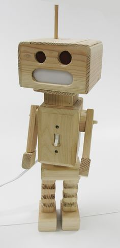 Wooden Robot http://heyweng.deviantart.com/art/Wooden-Robot-Lit-up-144673784