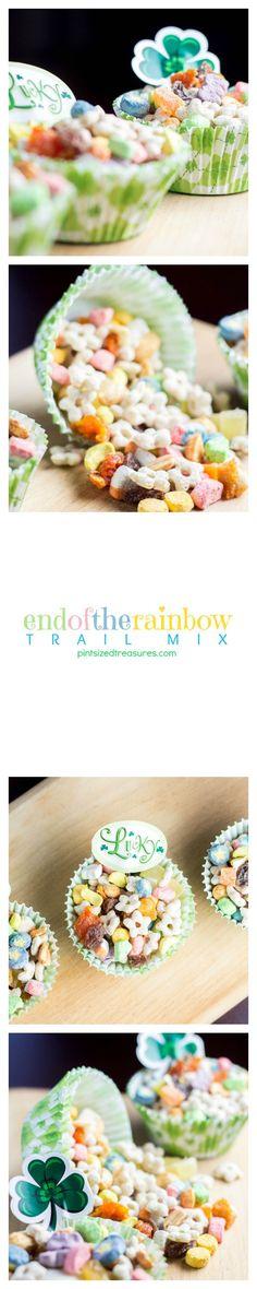 Easy snack idea --- End of the Rainbow trail Mix! @alicanwrite