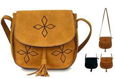 Atacado Vintage Bolsas Moda Feminina Couro Shoulder Bags Cruz-corpo Bolsa Brown Estrela do estilo japonês Novo favorito