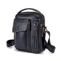 Hot Offer BULLCAPTAIN Genuine Leather Men Messenger Bag Casual Crossbody Bag  Business Men  Handbag Bags for gift brand shoulder bag d26f401362bde