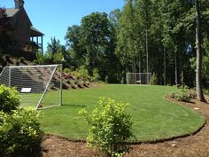 Custom soccer field designed and built by Outdoor Advantage