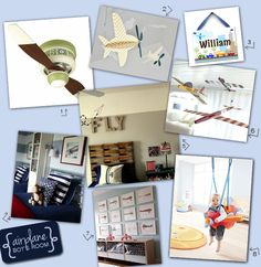 Boys Room Decorating Idea: Airplane and paint colors