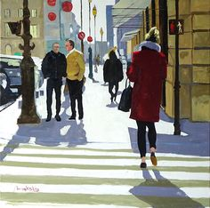 City People, Cityscapes, Silhouettes, Paintings, Graphics, Paris, Simple, Drawings, Illustration