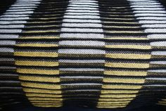 'PONGIS' textile by German handweaver textile designer Andreas Möller… Weaving Textiles, Weaving Art, Weaving Patterns, Loom Weaving, Textile Patterns, Hand Weaving, Textile Texture, Woven Fabric, Inspiration