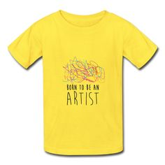 T-shirt enfant ARTIST (divers coloris) Kid t-shirt / Cadeau personnalisé / T-shirt enfant personnalisé / Born to be an Artist Kids Fashion, Mens Tops, Gift, Junior Fashion, Babies Fashion, Fashion Children, Kid Styles, Child Fashion
