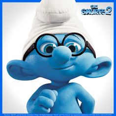 Brainy says that watching The Smurfs 2 makes one smurfin' happy! The Smurfs 2, Cute Disney, Childhood, Make It Yourself, My Style, Happy, Movies, Fictional Characters, Art