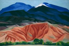 Georgia O'Keeffe, Black Mesa Landscape, New Mexico / Out Back of Marie's II (1930).Photo: Courtesy of Tate Modern.