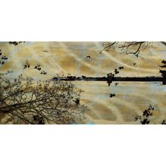 Marmont Hill Art Collective 'Golden Bay Blue' Art (24 X 12), Silver