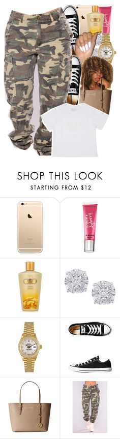 """oversize contest"" by danny-baby ❤ liked on Polyvore featuring Victoria's Secret, Effy Jewelry, Rolex, Converse and MICHAEL Michael Kors"