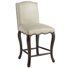 Claudine Counterstool - Ivory (Leather version) $250 Pier One