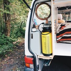 Check out our 'Kitchen & Bathroom Solution' . This is the water supply we have in our van Rudi . With the 8 liters 'pump-tank' it…
