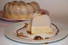 Gelatina de nuez y chocolate blanco