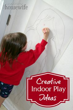 4 Creative Indoor Play Ideas ~ perfect for winter days when outside play isn't an option! | The Happy Housewife
