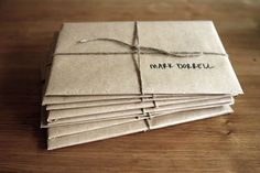 I love the recycled paper w/ twine.