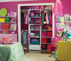 This would be good for the girl's closet ;)