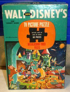 Vintage Jaymar Walt Disney's TV Picture Puzzle, 60 Pieces