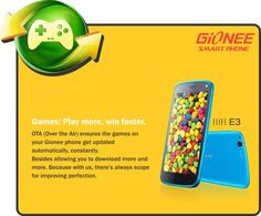 Gionee Elife E3 OTA Update improves on the Game Zone app to offer better user experience!