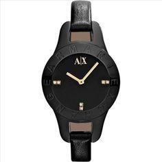 Armani Exchange AX4125 Ladies Black Fashion Watch -commodityocean.com