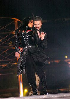 Pin for Later: See the Star-Studded Super Bowls From Years Past!  Justin Timberlake and Janet Jackson left everyone speechless during their Super Bowl halftime show performance in 2004.