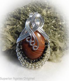 Lake Superior Agate Gem Wire Wrapped Pendant by superioragates, $45.00