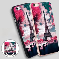 Paris Eiffel London Phone Ring Holder Soft TPU Silicone Case Cover for iPhone 4 4S 5C 5 SE 5S 6 6S 7 Plus //Price: $9.95 & FREE Shipping //     #hashtag1