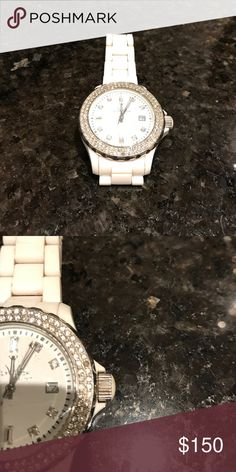 White Toy Watch! 💕 Beautiful white toy watch! Missing one diamond as pictured. Super sparkly! Not MK but Toy Watch didn't have a category 💅🏽 Michael Kors Accessories Watches