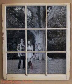 Contemporary Harbor: Window Pane Picture Frame