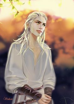 Elf by Venlian.deviantart.com (looks like a young Bainalph unknowingly tempting Thranduil with his youthful adoration. (: