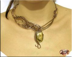 Chaos- wire wrapped necklace