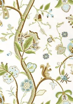Image result for thibaut wallpaper with squirrels