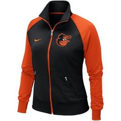 Nike Baltimore Orioles Women's Full Zip Track Jacket - Black